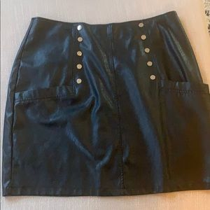 FAux leather skirt from SHEIN